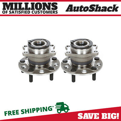 Rear Pair (2) Wheel Hub Bearing Assembly Fits 2007-2016 Jeep Compass HB612335PR