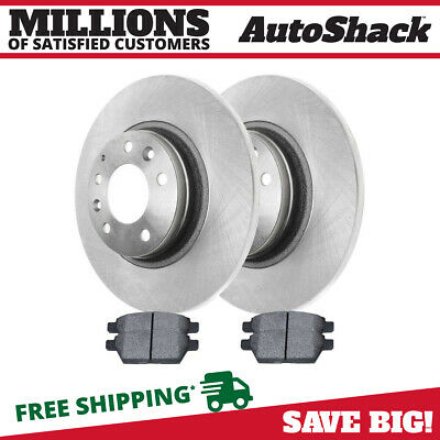 Complete Rear Kit Pair Of 2 Disc Rotors And 4 Premium Ceramic Brake Pads Set