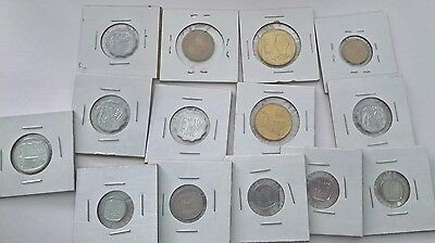 Large lot of Israel 14 Coins – Agora Agorot Mixed Dates and Denominations W23