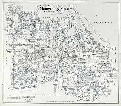 1880 Map of Montgomery County Texas