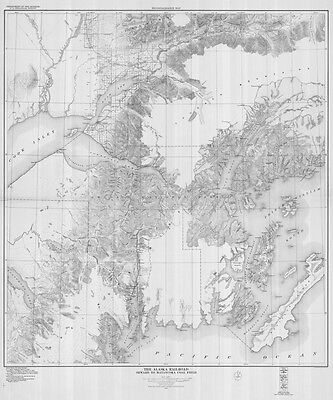 1924 Map of The Alaska Railroad Seward to Matanuska Coal Field