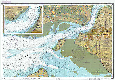 1986 Nautical Map of Cook Inlet Anchorage Alaska