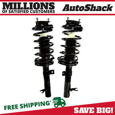 Pair of 2 New Front Quick Install Complete Strut Assemblies for 00-05 Ford Focus