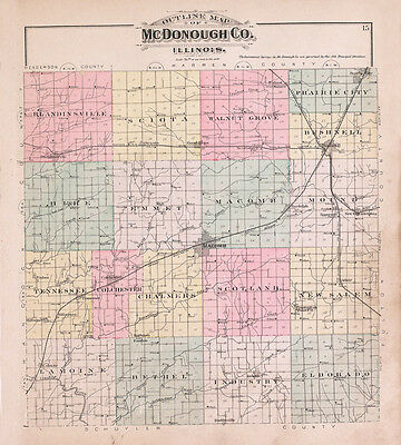 1893 Map of McDonough County Illinois