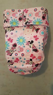 Adult Diaper,Extra Padding, Fully Functional All in One, Minnie Mouse pink. ABDL
