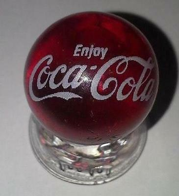Super Nice *RARE* Coca-Cola Script Collectible RUBY RED Glass Marble