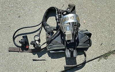 MSA HARNESS / AIR TANK HOLDER with gauges - Retired Fire Equipment