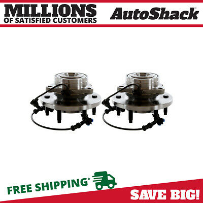 Front Pair (2) Wheel Hub Bearing Assembly Fits 2006-09 Hummer H3 5.3L 3.7L w/ABS
