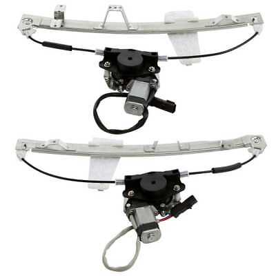 2 Window Regulators W/Motors fits Jeep Grand Cherokee With Lifetime Warranty