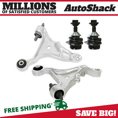 New Set of 2 Front Lower Control Arms and 2 Ball Joints fits Volvo S60 or V70