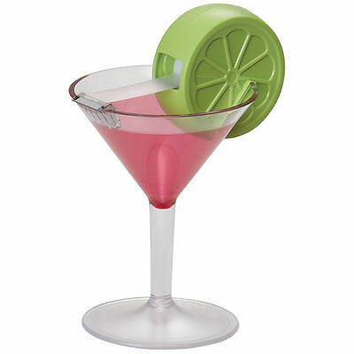 Scotch Magic Tape Dispenser Martini Cosmopolitan Lime Cocktail Glass Office Desk