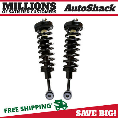 Front Pair/Set 2 Complete Quick Install Struts for Ford F150 Lincoln Mark LT 4WD