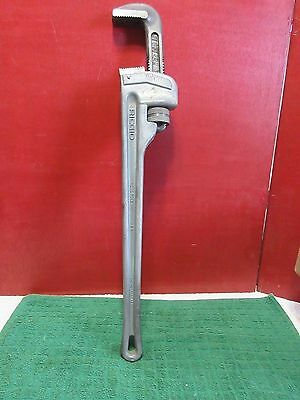 "Ridgid 24"" Aluminum Straight Pipe Wrench, 3 in. Jaw Capacity-Lifetime Warrenty!"