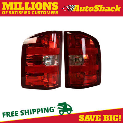 Left Right Pair (2) Tail Lights for a 2007-2012 Chevrolet Silverado 1500