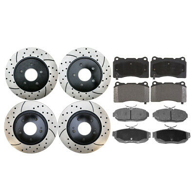 Full Set of Performance Rotors & Ceramic Pads for a 07-14 Ford Mustang