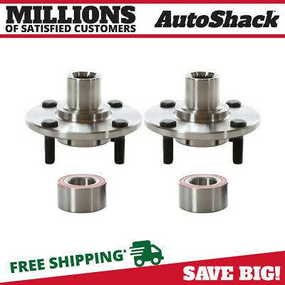 Front Pair (2) Wheel Hub Bearing Assembly For 2000-11 Ford Focus 2.0L HB618512PR
