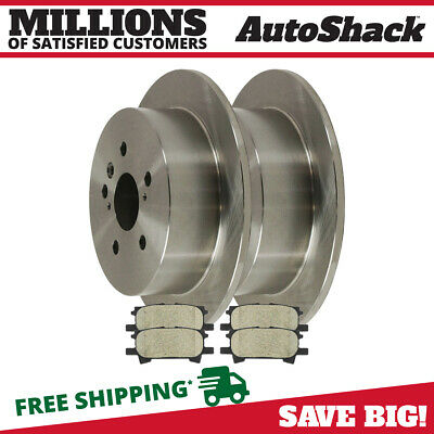 Rear Rotors Ceramic Pads for 2007-2009 Lexus RX350 2004-2007 Toyota Highlander