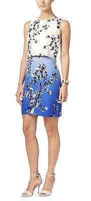 71ae6961 IVANKA TRUMP FLORAL-PRINT Starburst Sheath Dress ID7N1602 NWT Sz 10 ...
