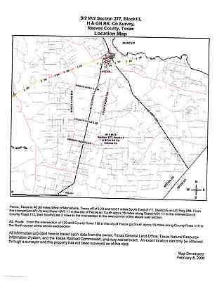 TEXAS 5 acres just south of pecos in reeves county