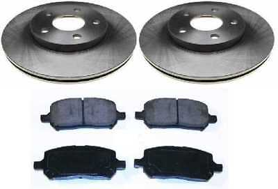 Front Set of 2 Rotors & 4 Performance Ceramic Pads With Lifetime Warranty
