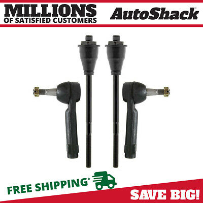 New Set of 2 Inner & 2 Outer Tie Rod fits Cadillac Escalade Chev GMC 1500 2500