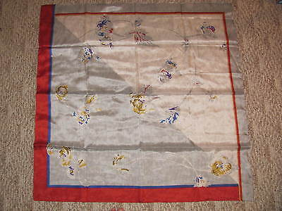 "Beautiful Vintage Silk Scarf Floral Multi Color 33"" By 33"" Inches"