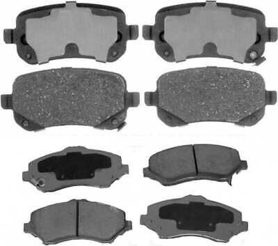 Premium Front & Rear Ceramic Disc Brake Pads 2 Full Complete Sets 4 Pairs 8 Pads