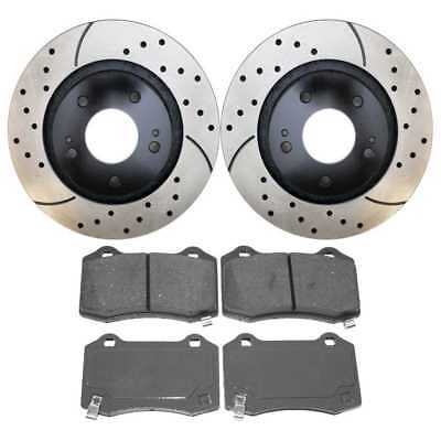 Front Set of Performance Rotors & Ceramic Pads for a Mustang w/Lifetime Warranty
