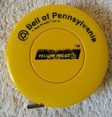 Antique Celluloid Sewing Tape Measure Adv. Bell of Pennsylvania yellow pages