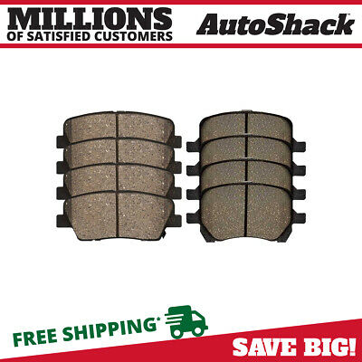 Front and Rear Ceramic Brake Pads for 2006-2010 Pontiac G6 2006-2012 Malibu