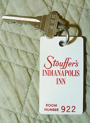 Vintage Hotel Key - Stouffer's Indianapolis Inn - Room 922