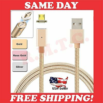 Lot Magnetic Micro Usb Charger Cable Android 3 Ft Phone Rapid Wall Charging