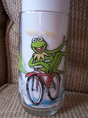 Vintage 1981 McDonald's 'The Muppets' Tumbler Glass - Kermit The Frog