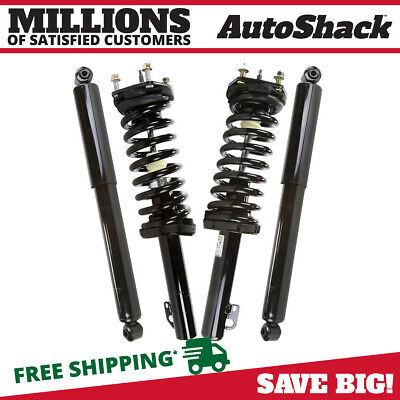 2 Front Complete Strut Assemblies And 2 Rear Shocks fits 05-10 Jeep