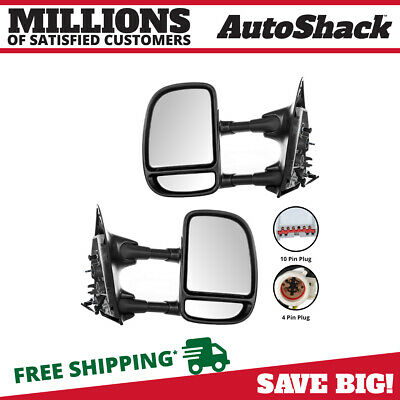 Pair (2) Power Telescoping Side View Mirror Fits 1999-2003 Ford F-250 Super Duty