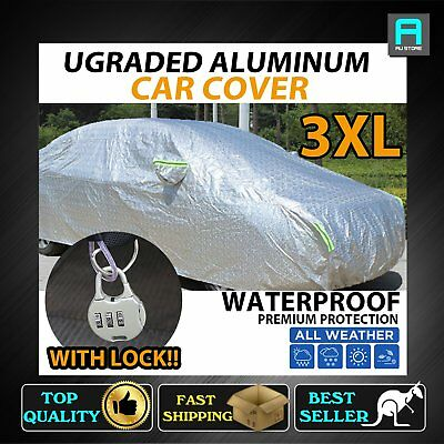 Heavy Duty Sun UV Resistant Car Cover Anti Scratch Cover Large Size Universal OZ