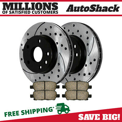 Rear Kit Performance Drilled Slotted Brake Rotors & Ceramic Pads Perf41532905