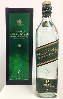 Johnnie Walker Green Label Empty Bottle and Box (Production Ended)