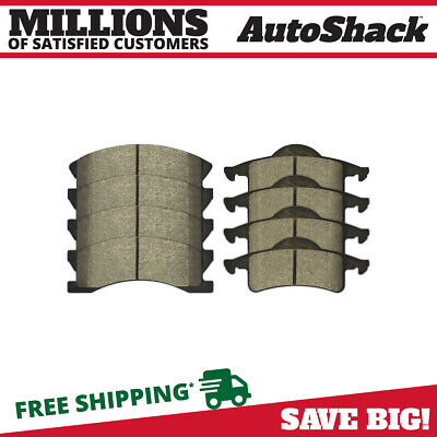 New Package of Front and Rear Premium Semi Metallic Brake Pads fits Jeep