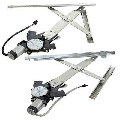 FRONT PAIR 2 POWER WINDOW REGULATOR W/ MOTOR fits CHEVY CAVALIER SUNFIRE 4 DOOR
