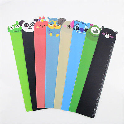 3pcs Cute Cartoon Animal Doll Series Pvc Ruler Bookmark 15 Cm Straight Ruler