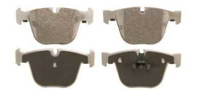 Complete Set of Left & Right Rear Semi Metallic Brake Pads with Shims fits BMW