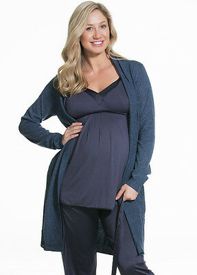 NEW - Cake Lingerie - Gateau Knit Robe in Navy - Maternity Robe Cardigan