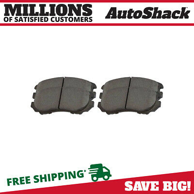 New Premium Complete Set Of Front Semi-Metallic Disc Brake Pads With Shims