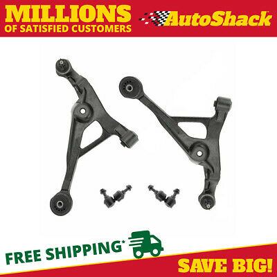 Pair (2) Front Lower Control Arm With Ball Joints And Pair (2) Sway Bar Links