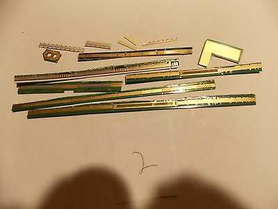 GOLD RECOVERY Scrap Lot2 High Yeild LCD GOLD FINGERS Solid Plated trimmings SALE