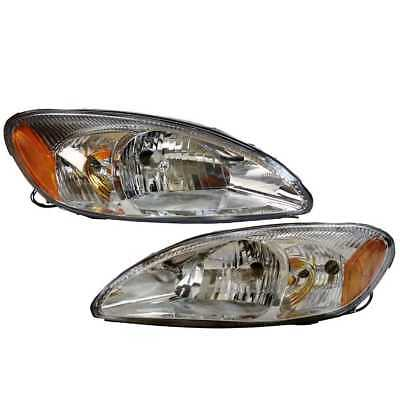 Pair (2) New Headlight Assembly with Lifetime Warranty