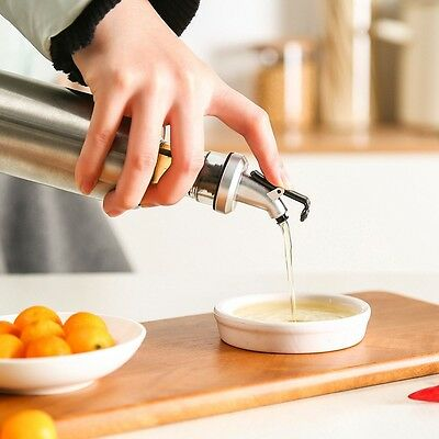 Kitchen Oil Bottle Stainless Steel Container Leak-proof Cruets Cooking Tool