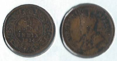 1914 India one twelfth anna coin