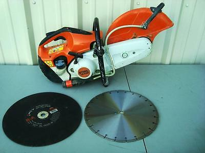 "Stihl Ts 420 With New Blades 14"" Gas Concrete Cut-Off Saw Ts420"